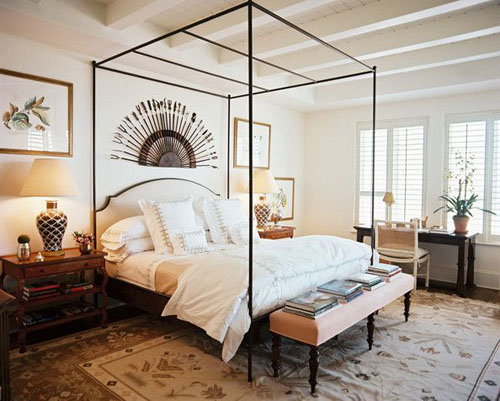 iron upholstered canopy bed & Making a Statement in the Bedroom- The Modern Canopy Bed - Design ...